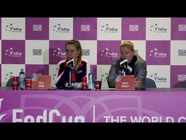 Fed Cup Press Conference: Kathy Rinaldi and Sonya Kenin  - Buy American