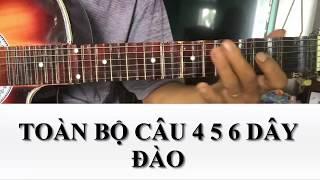 [Tự học ghita phím lõm] - Bài 19: Vọng cổ dây đào câu 6 từ nhịp 13 đến nhịp 32