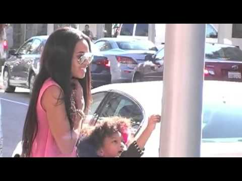 Run-D.M.C. rapper Joseph Simmons daughter Angela Simmons is seen getting out of her
