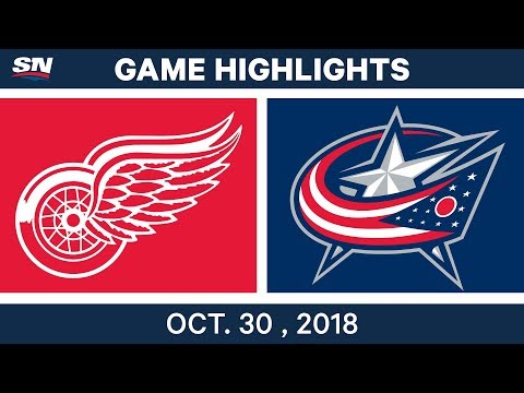 NHL Highlights | Red Wings vs. Blue Jackets - Oct. 30, 2018