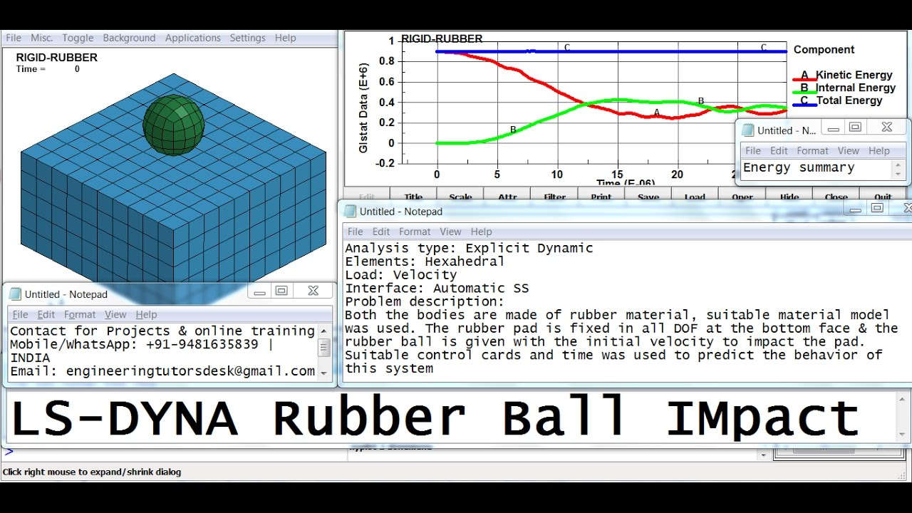 LS Dyna Rubber Ball impact   GRS  