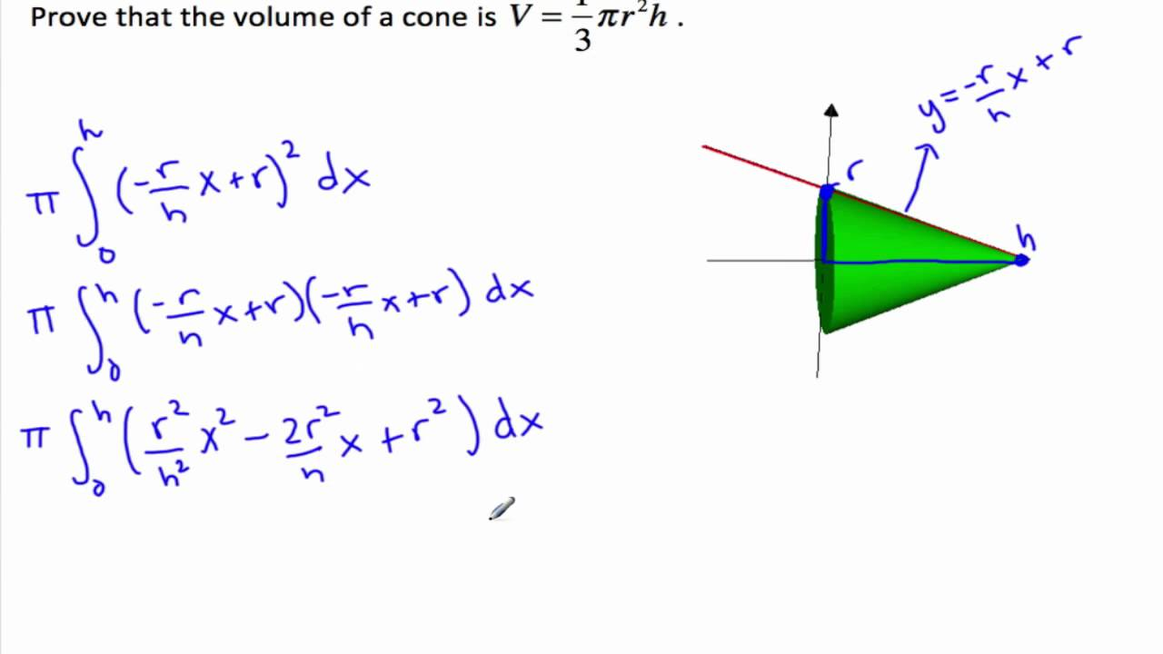 how to work out the volume of a pyramid