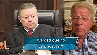 Ministro Presidente, la ley es muy clara. Por el amor a México, a las leyes que emanan de nuestra Constitución y el amor a Dios… NO ACEPTE ese DESHONOR