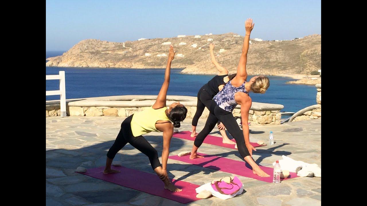 Luxury Yoga Retreat In Mykonos Greece Beach Spa Yoga Sun Youtube