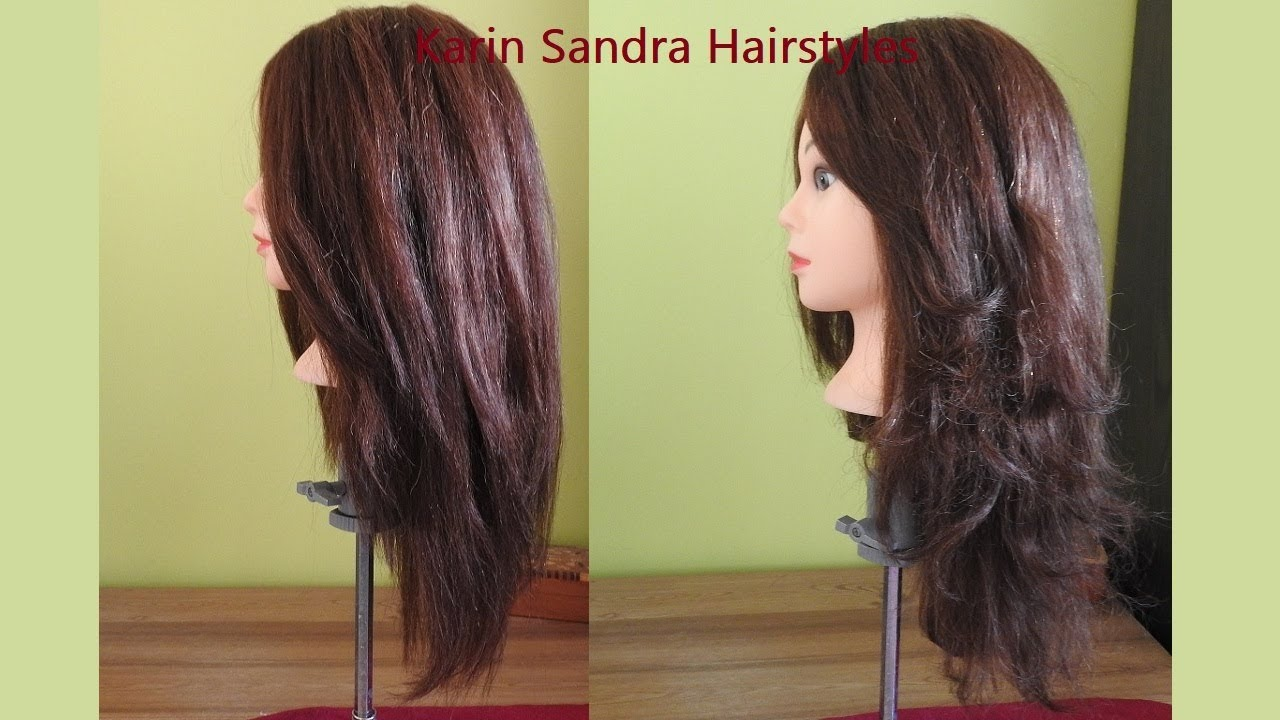 Long layered haircut tutorial  Long Bob haircut with layers  Long U Shape  haircut with layers