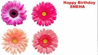 Sneha - flowers - Happy Birthday