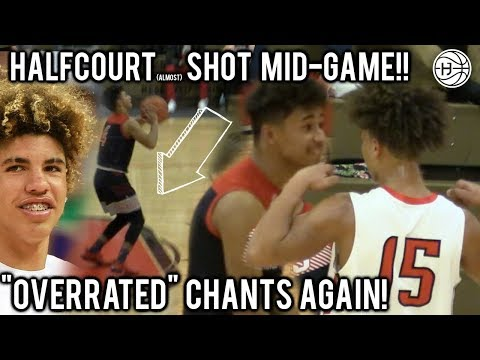 """OVERRATED"" Julian Newman HITS HALFCOURT SHOT MID-GAME AND FORCES OVERTIME!! 30 POINTS & 7 THREES!"