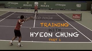 Training With Hyeon Chung - Part 1 | Rolex Shanghai Masters 2018 (TENFITMEN)