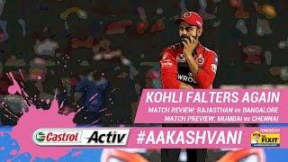 #IPL2019: KOHLI falters again; #RR win: 'Castrol Activ' #AakashVani, powered by 'Dr. Fixit'