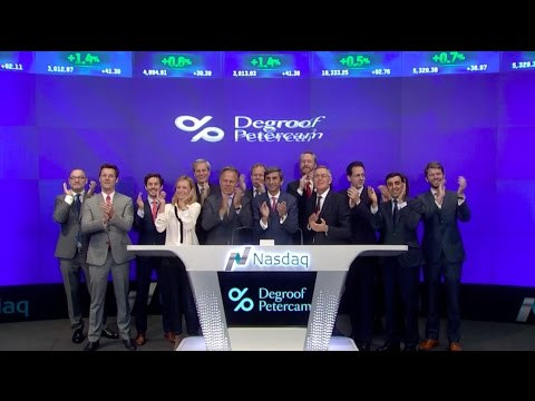 Nasdaq Closing Bell Ceremony with Bank Degroof Petercam - Times Square (NYC) - 10.10.2016