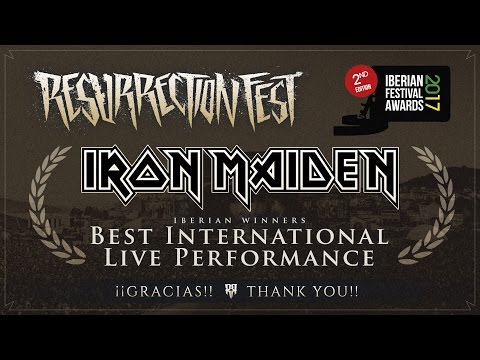 Bruce Dickinson congratulates Resurrection Fest for their Iberian Festival Award