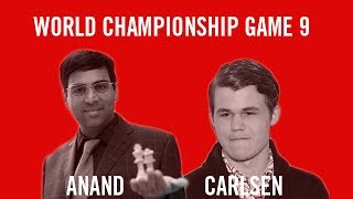 World Chess Championship 2013 Anand vs Carlsen Game 9