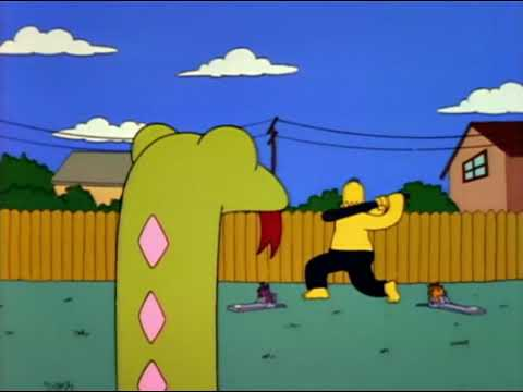 Homer Simpson Trains For Whacking Day