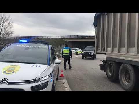 Control de Policía Local para evitar los viajes a segunda residencia