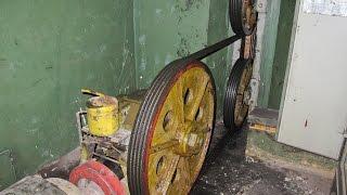 Старый распашной лифт 500 кг 1 м/с с нижним МП