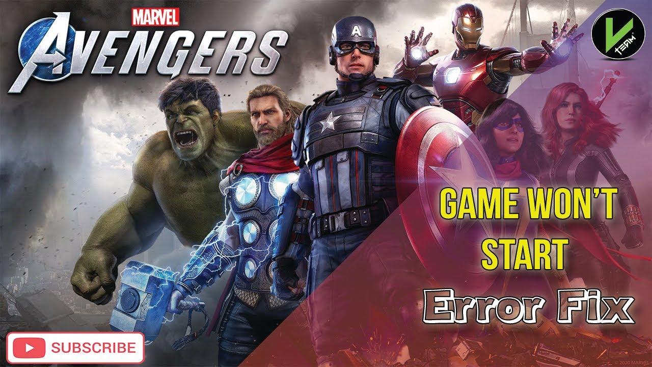 Download Marvel's Avengers Game not opening - Won't Start Error Fix-not responding.
