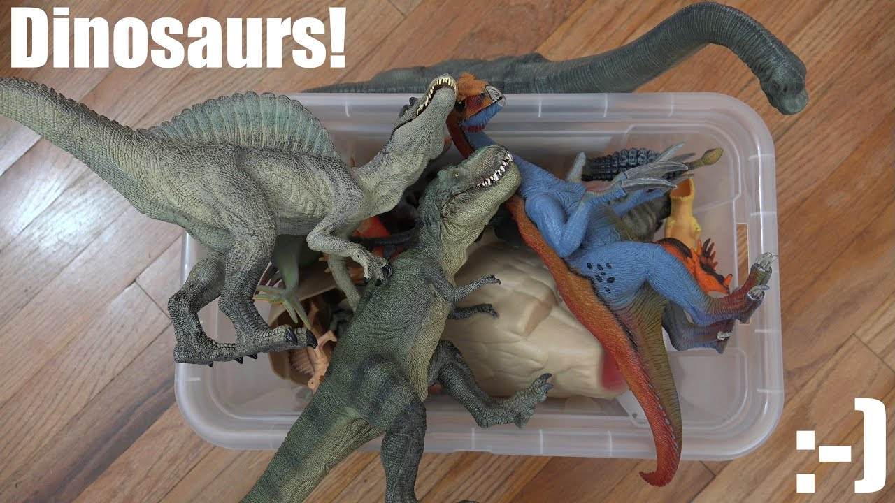 Dinosaurs Toys Collection : Bunch of dinosaur toy collection a box unboxing