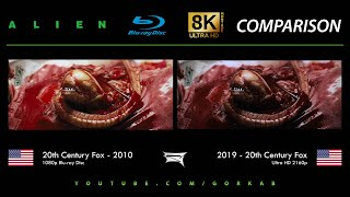 Blu-ray Versus - Alien (2010 vs 2019) 8K ULTRA HD Comparison