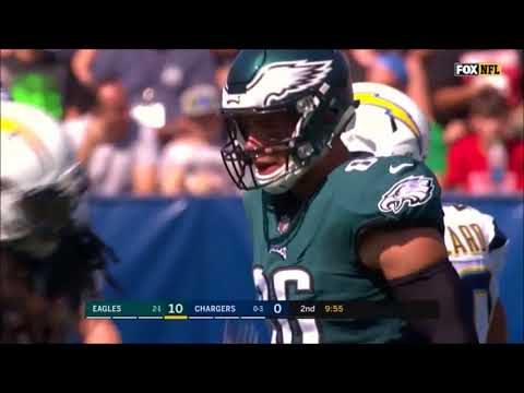 All Carson Wentz Throws vs. Chargers (Week 4 - 2017)