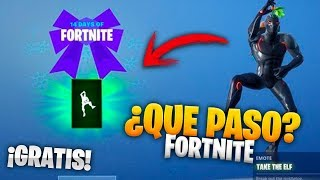 *NEW* THAT HAPPENED WITH THE FREE TAKE THE ELF BAILE IN FORTNITE Explained