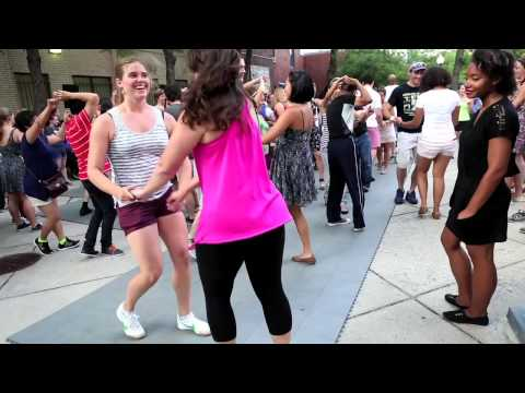 Kerry Thompson teaches salsa dancing for the Deaf