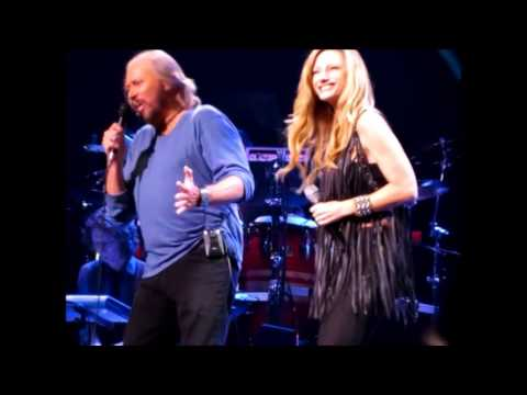 Barry Gibb with Beth Cohen performing 'Guilty' Mythology Tour Philadelphia