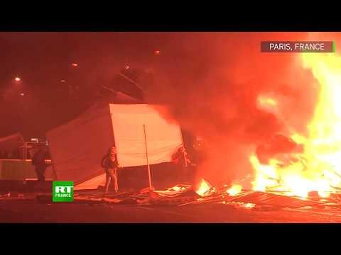 Les temps forts de la mobilisation des Gilets jaunes à Paris