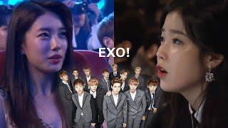 K-Pop Idols/ Celebrities Reaction to EXO (엑소)