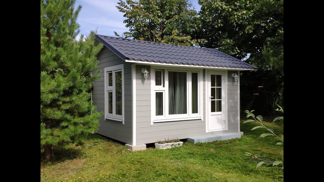 Садовый домик 3 х 4 м своими руками. Гостевой домик. Дачный домик. Build a tiny house DIY.
