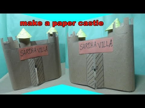 how to make paper castle home for kids | easy craft tutorial