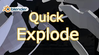 #1 Quick Explode || Blender Hindi