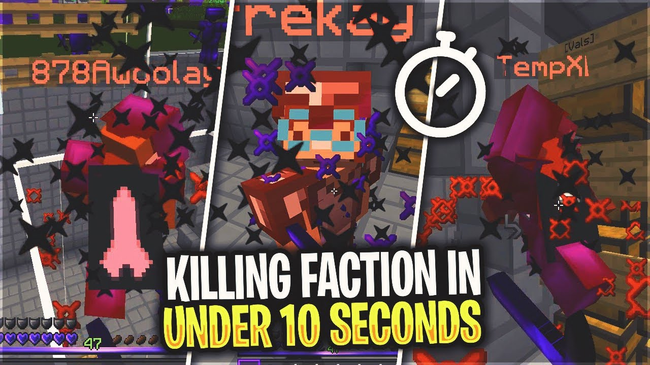 SOLO KILLING AN ENTIRE FACTION IN UNDER 10 SECONDS    (3v1) | Minecraft HCF