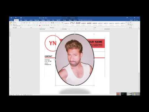 How to insert Picture in Your C V