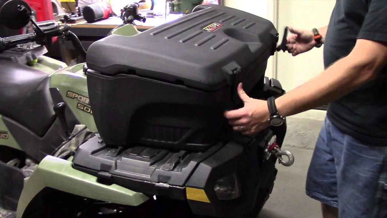 Kolpin Rear or Front Trailbox on Front Rack of Polaris Sportsman 500