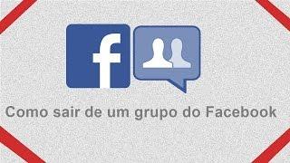 Como sair de um grupo do Facebook