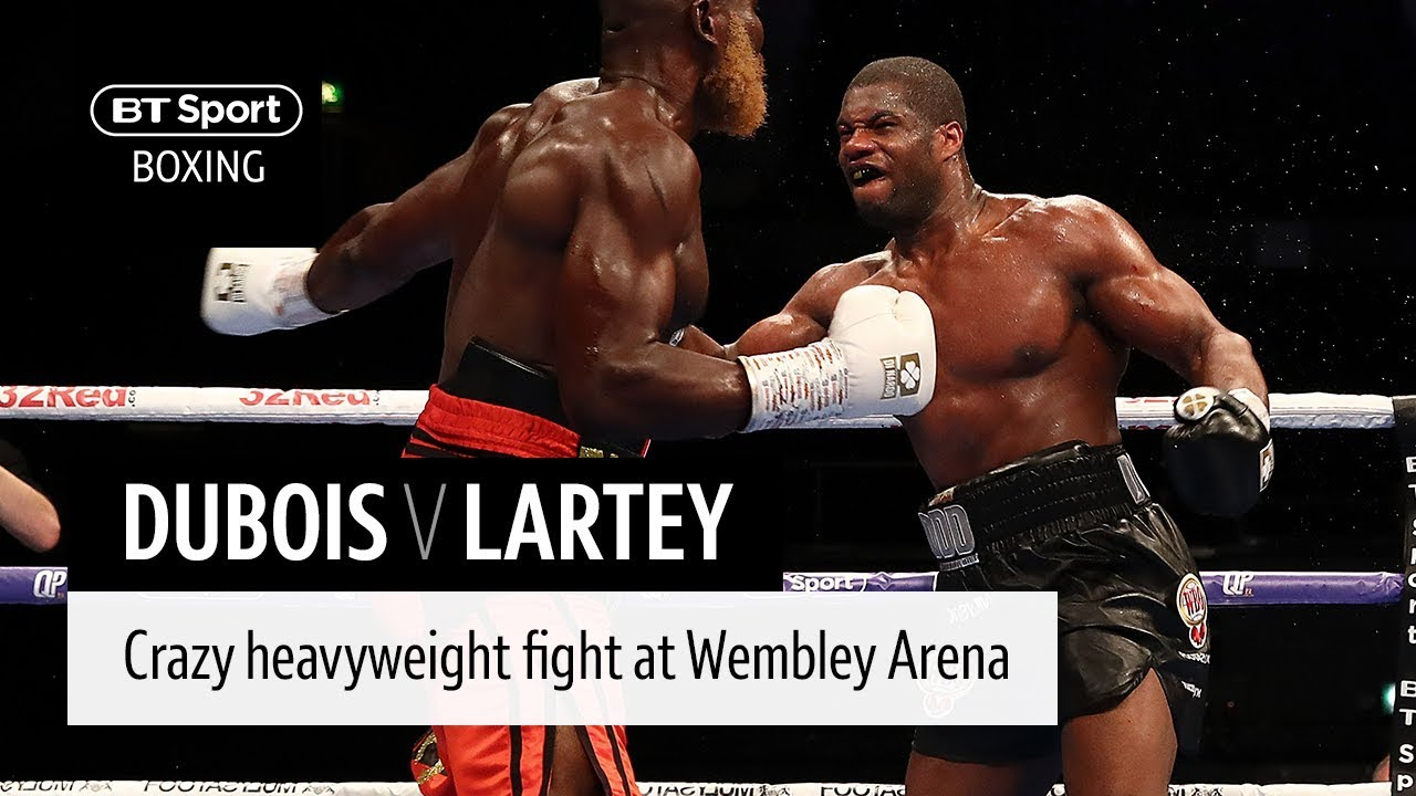 Crazy heavyweight war! Daniel Dubois v Richard Lartey full fight