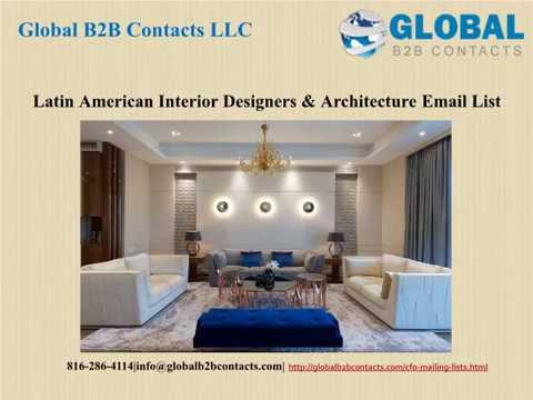 Latin American Interior Designers & Architecture Email List