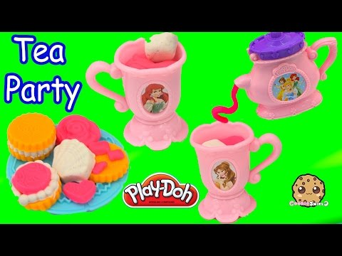 Frozen Queen Elsa & Anna Have Play-Doh Disney Princess Tea Cookie Party - Video Cookieswirlc