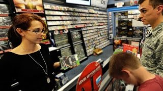 kid spends $1200 on dads credit in GameStop! MUST WATCH!!!