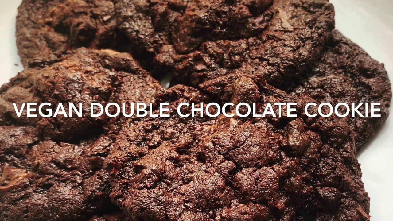 Moist Vegan Double Chocolate cookie
