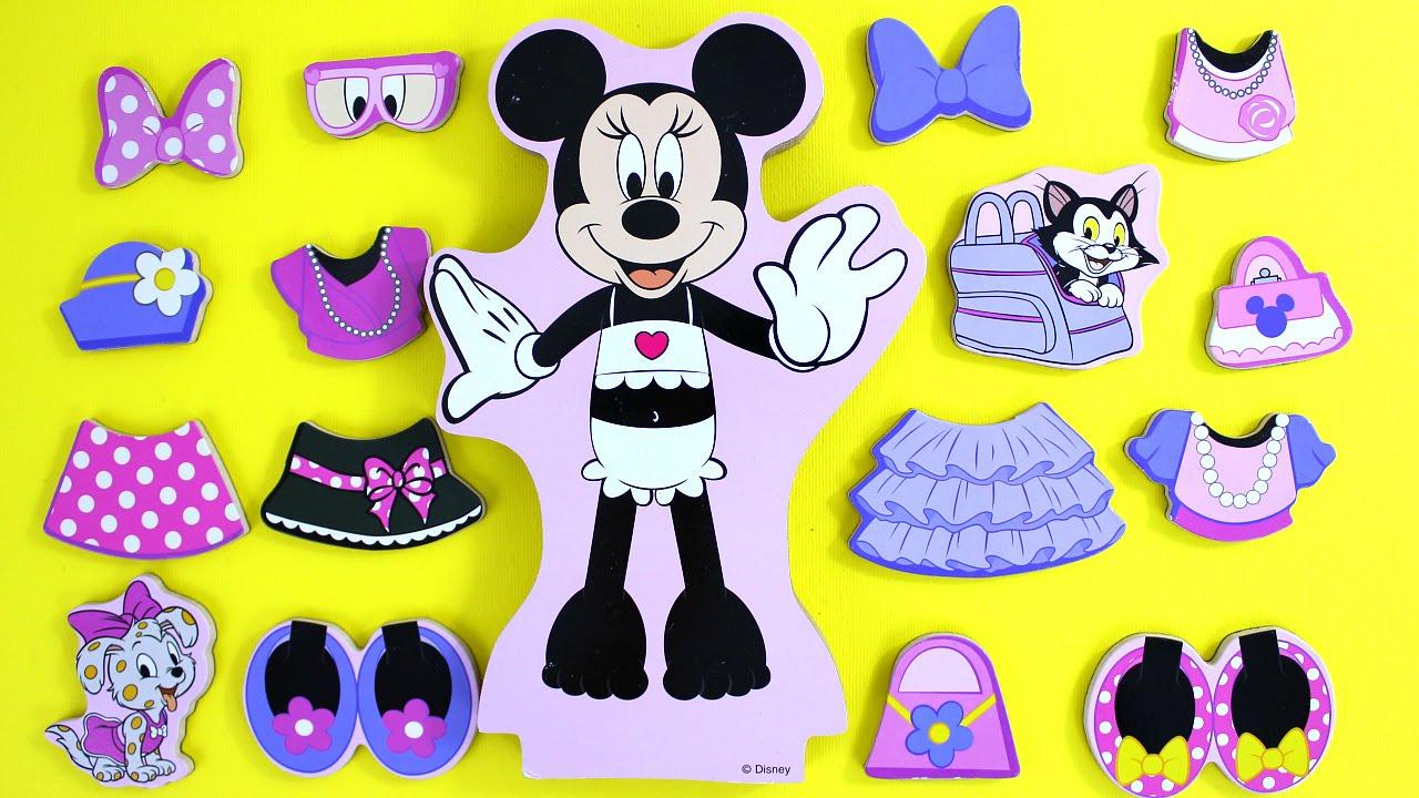 Minnie Mouse Muneca Magneticas Para Vestir Juguetes De Minnie