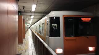 大阪地下鐵中央線近鉄7000系離站(堺筋本町)