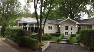 Superleuk chalet op Camping Oldemeyer in Rheeze bij Hardenberg