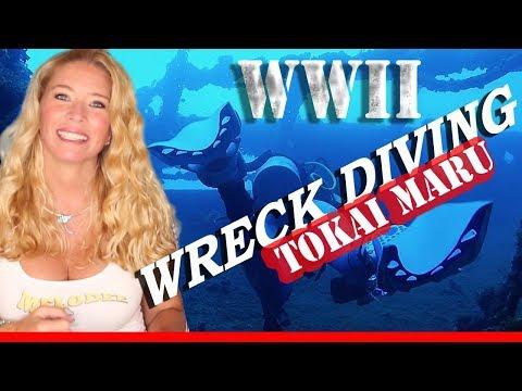 Going DEEP inside The WWII Shipwreck Tokai Maru - SCUBA DIVING
