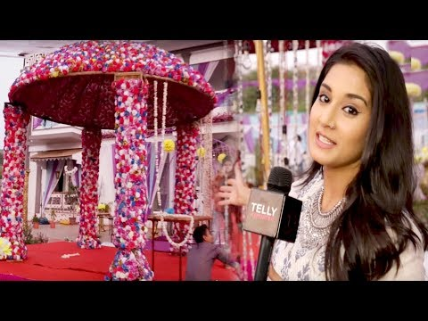 Aditi Rathore Gives Glimpse of The Grand Wedding Mandap Of Avni & Neil | Telly Reporter Exclusive