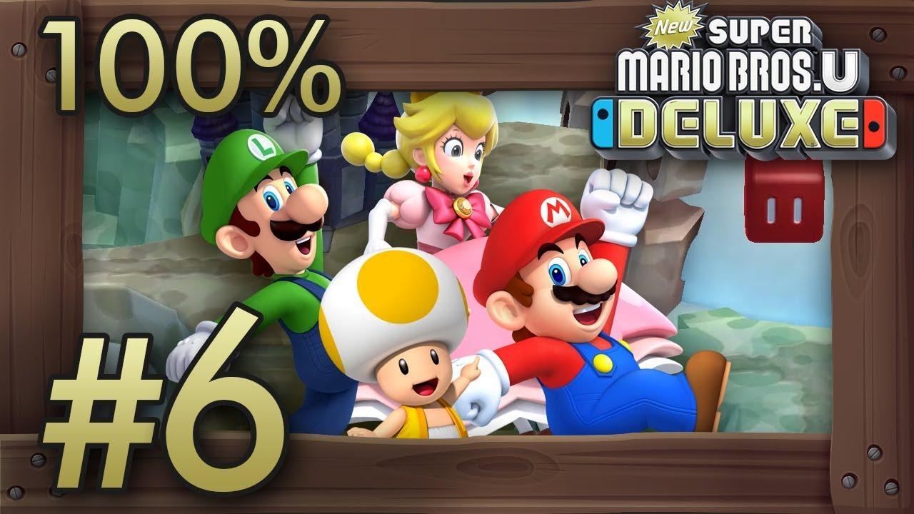 New Super Mario Bros U Deluxe Gameplay Walkthrough Part 6 World