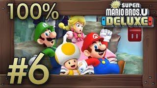 New Super Mario Bros. U Deluxe: 100% Walkthrough (4 Players) - World 6 - All Star Coins