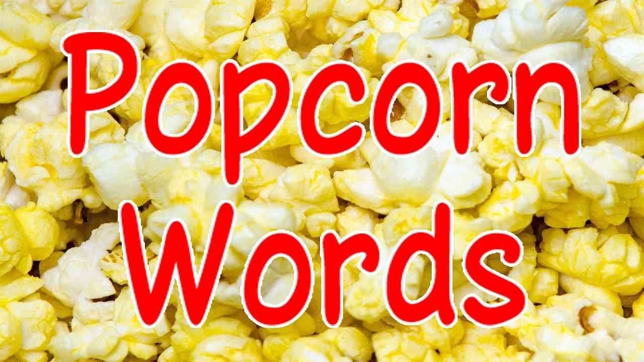 Popcorn Words Sight Words Educational Songs Kids Videos