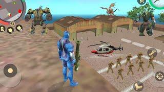 Rope Hero: Vice Town (Rope Hero on Army Base) Rope Hero Drive Assault Machine - Android Gameplay HD screenshot 5