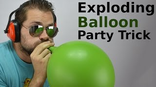 Exploding Balloon without touching it | Party Tricks